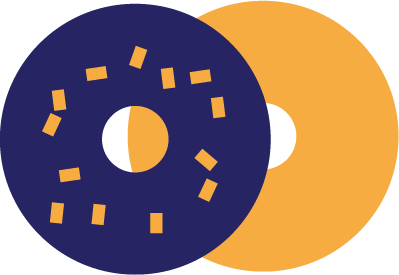icon of a sliced bagel